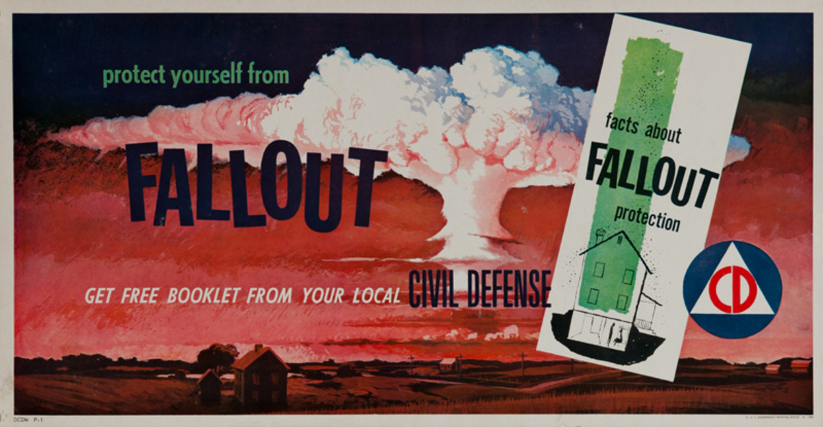 Protect Yourself From Fallout, Original Civil Defense Poster