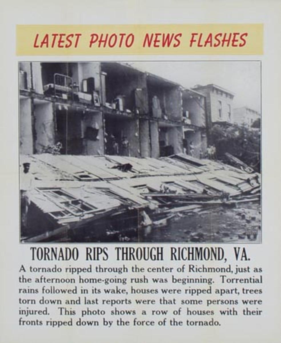 Latest Photo News Flash Original Poster Tornado Ripes Through Richmond, VA