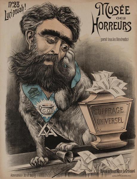 Musée des Horreurs, No. 28 Luci-pouah!! Original French Anti-Semetic Political Poster