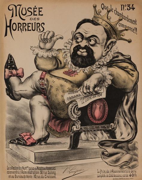 Musée des Horreurs, No. 34 Que le Chambardement Commence!!   Original French Anti-Semetic Political Poster