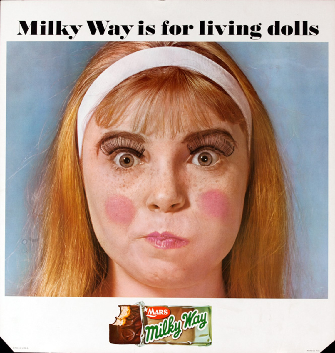 Mars Candy Original Advertising Poster Milky Way Is For Living Dolls