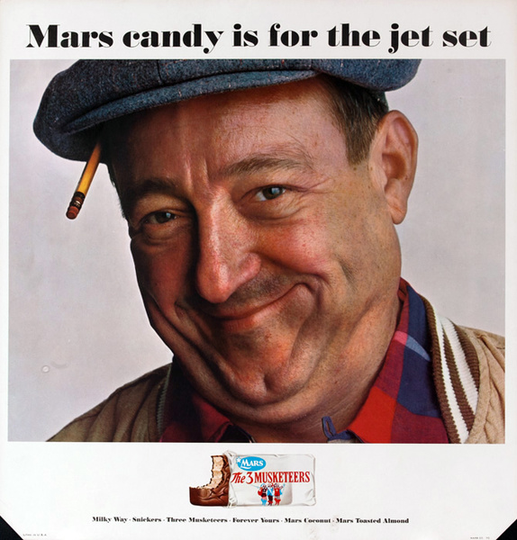 Mars Candy Original Advertising Poster, Mars Candy is for the Jet Set