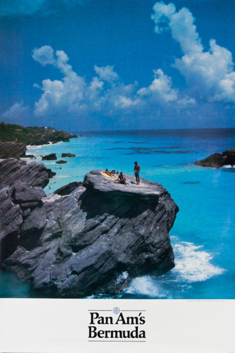 Pan Am Airlines Original Travel Poster, Bermuda
