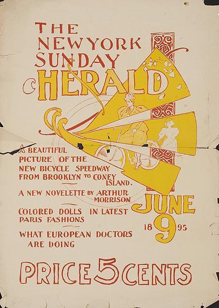 [[New York]] Sunday Herald Original American Literary Poster