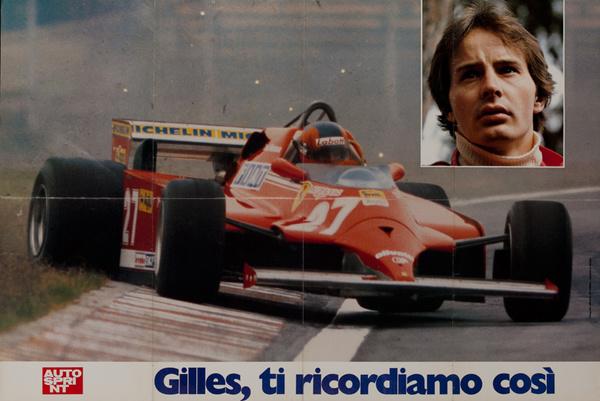 AutoSprint Original FI Racing Poster, Gilles, ti ricorfiamo cosi.