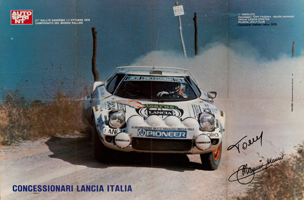 AutoSprint Original Racing Poster, Concessionari Lancia Italia