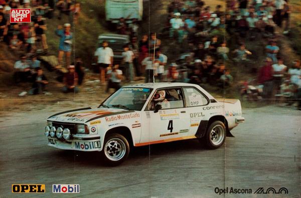 AutoSprint Original Racing Poster, Opel Ascona