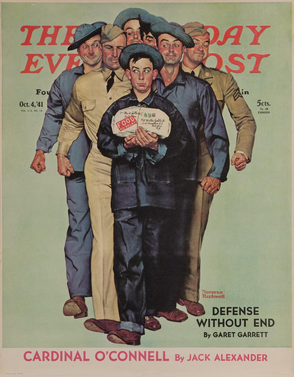 Saturday Evening Post Original Advertising Poster, Oct 4, 1941