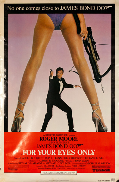 For Your Eyes Only Original James Bond 007 Movie Poster 1 Sheet