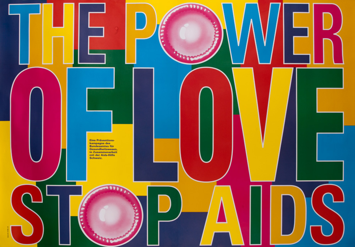 The Power of Love - Stop Aids Original Swiss Health Care Poster