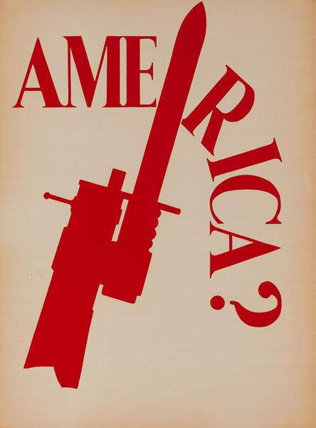 Original Vintage Anti Vietnam War Poster, America?