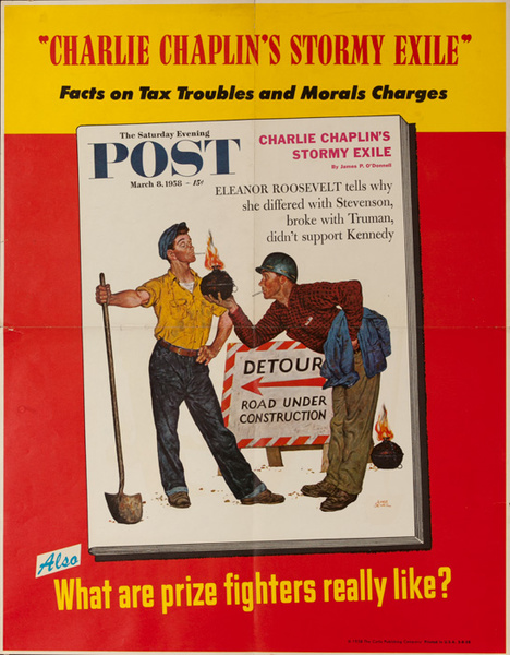 Saturday Evening Post Original Advertising Poster, March 8, 1958