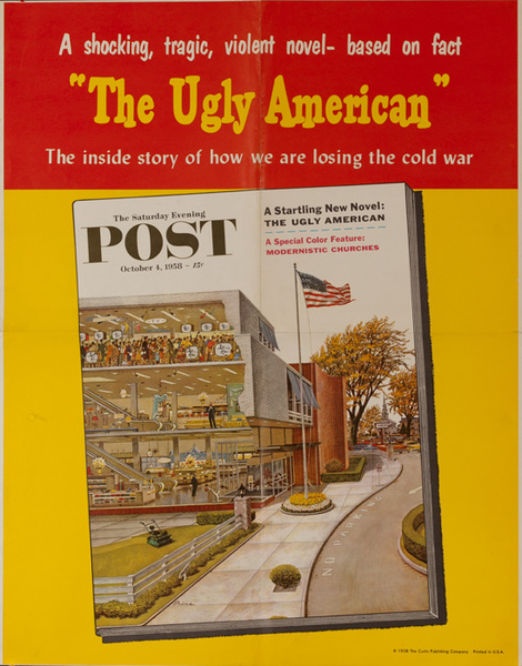 Saturday Evening Post Original Advertising Poster, Oct 4, 1958