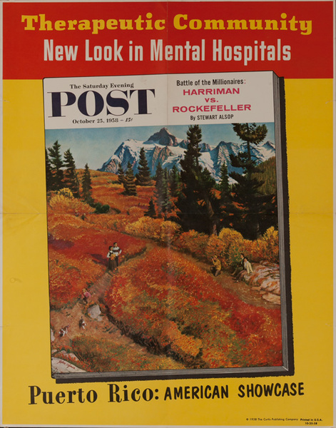 Saturday Evening Post Original Advertising Poster, Oct. 25, 1958