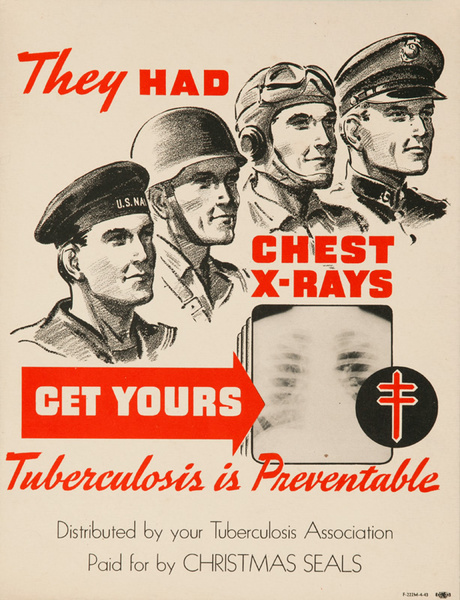 They Had Chest X-Rays, Get Yours Original Tuberculosis Health Poster
