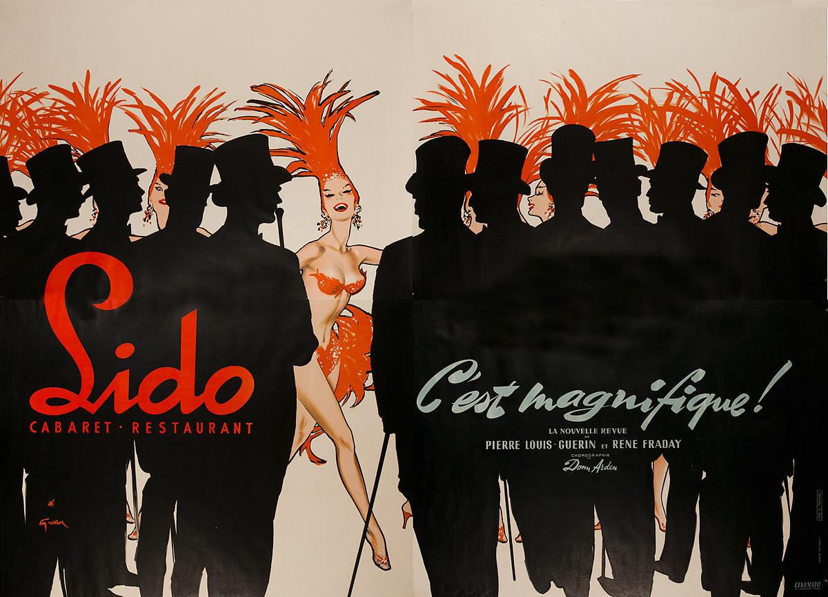 Paris Lido Cabaret Original French Advertising Poster C'est Magnifique!