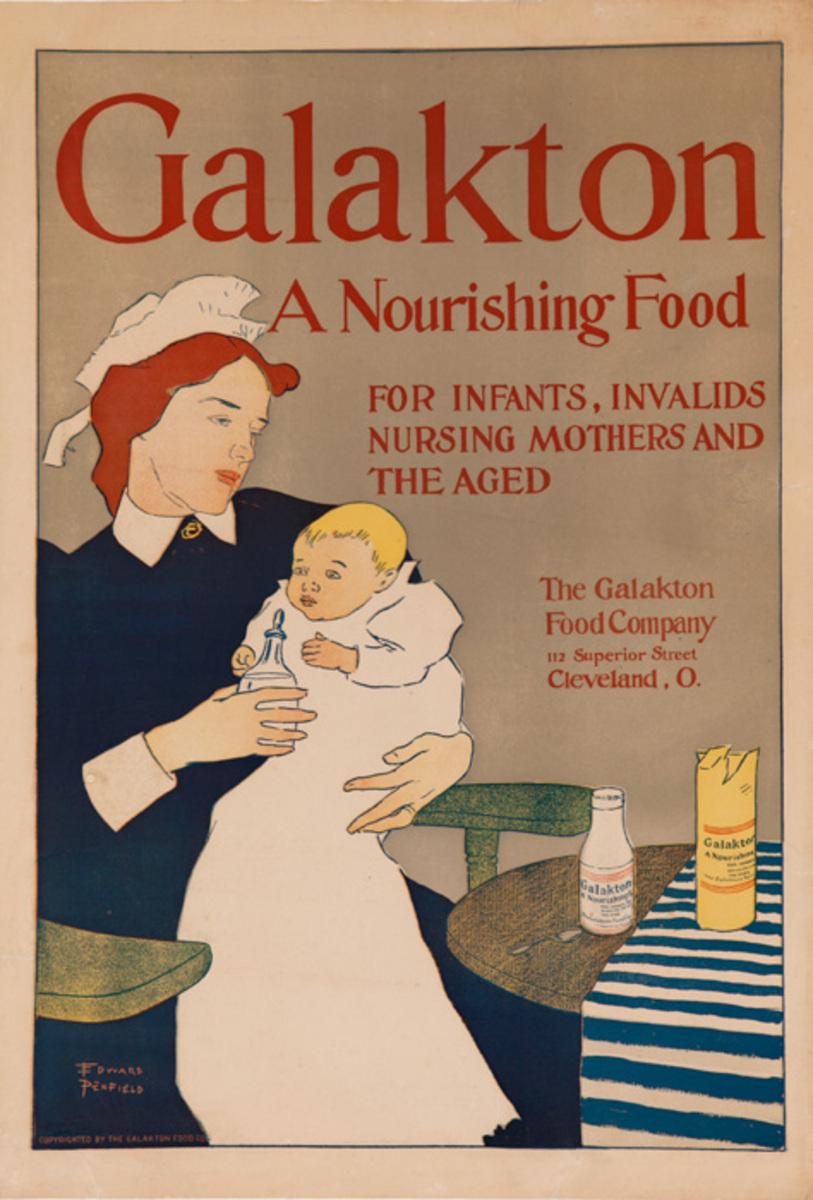 Galakton A Nourishing Food Original Advertising Poster