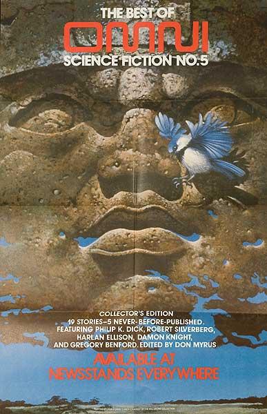 Best of Omni Magazine Science Fiction No. 5 Original Vintage Literary Poster