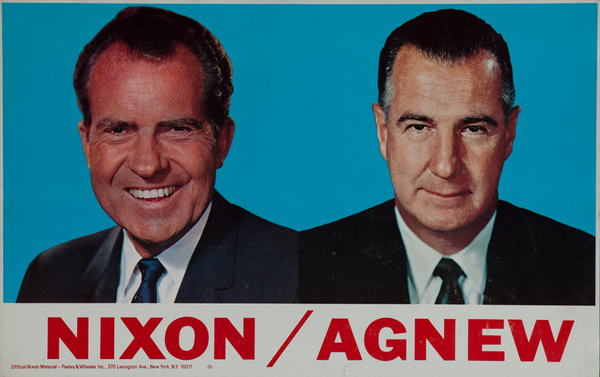 Nixon Agnew Original Campaign Poster