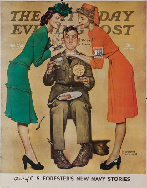 Saturday Evening Post Original Advertising Poster Feb 7, 1942