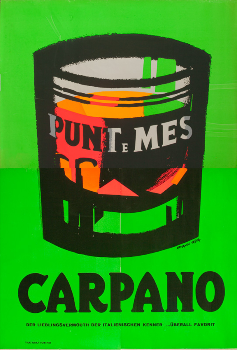 Carpano Punt e Mes Original Italian Quatrofolio Poster