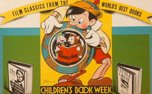 1939 Children's Book week Poster Walt Disney Pinocchio