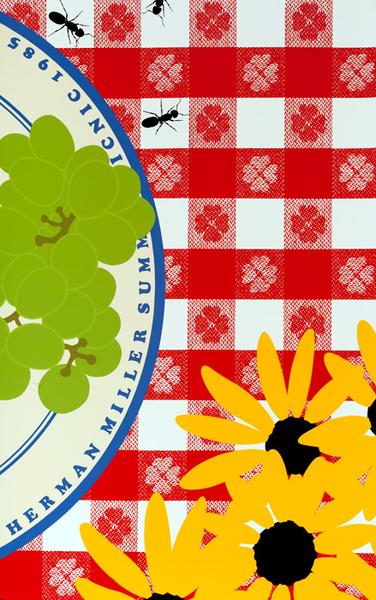 Original Vintage Poster Herman Miller Picnic Table Summer Carnival 1985