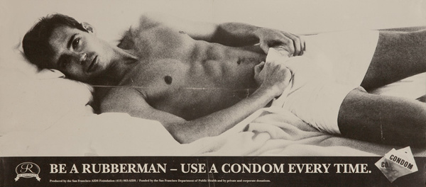 Be A Rubberman Use A Condom Every Time Original San Francisco Aid Healthcare Poster
