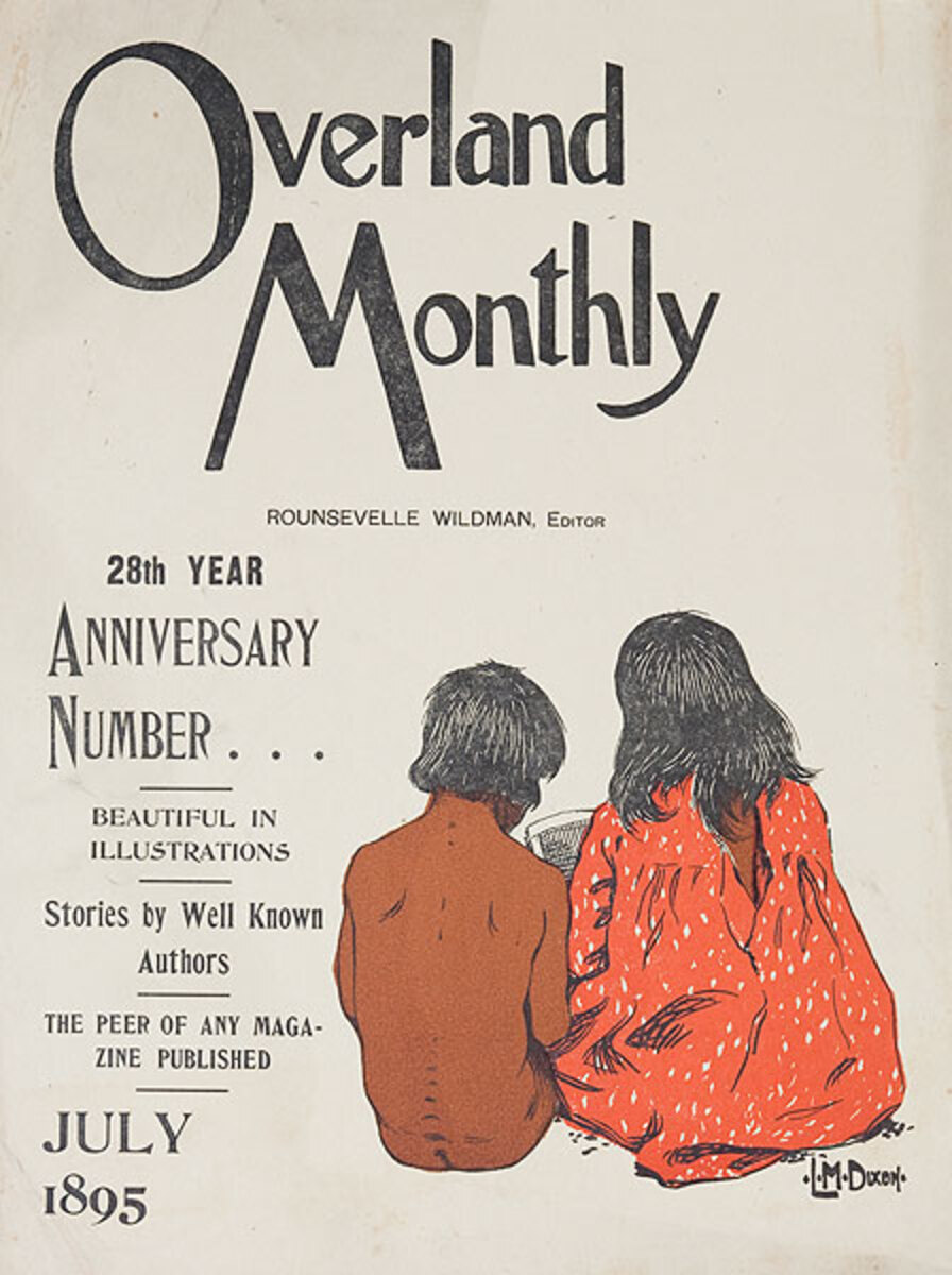 Overland Monthly July 1895 Original American Literary Poster
