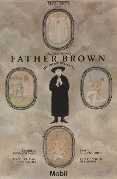 Mobil Mystery Original Television Advertising Poster Father Brown, The Divine Detective