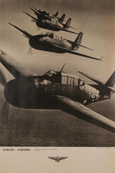 Echelon Avengers Original WWII Naval Aviation Poster