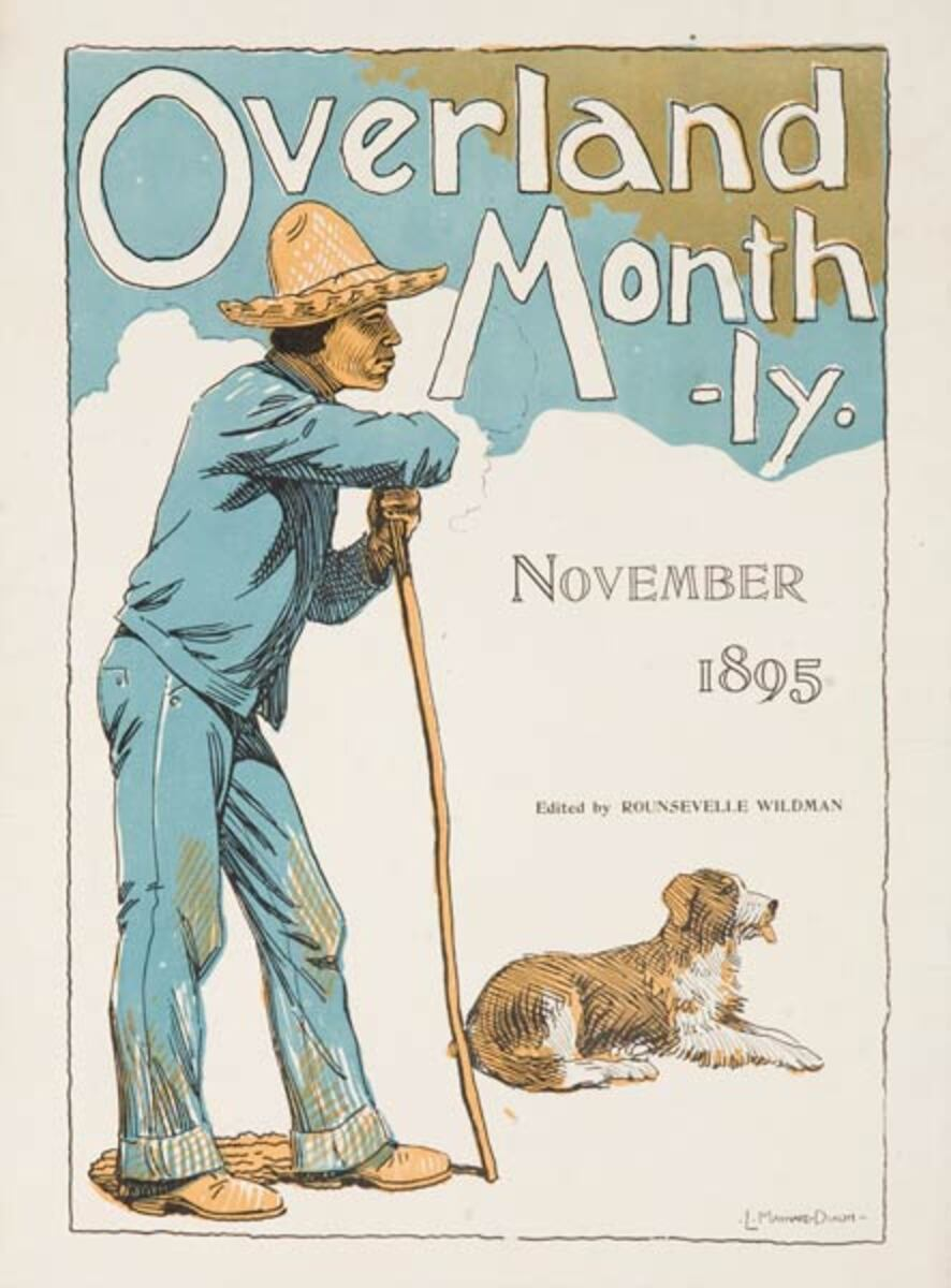 Overland Monthly November 1895 Original American Literary Poster
