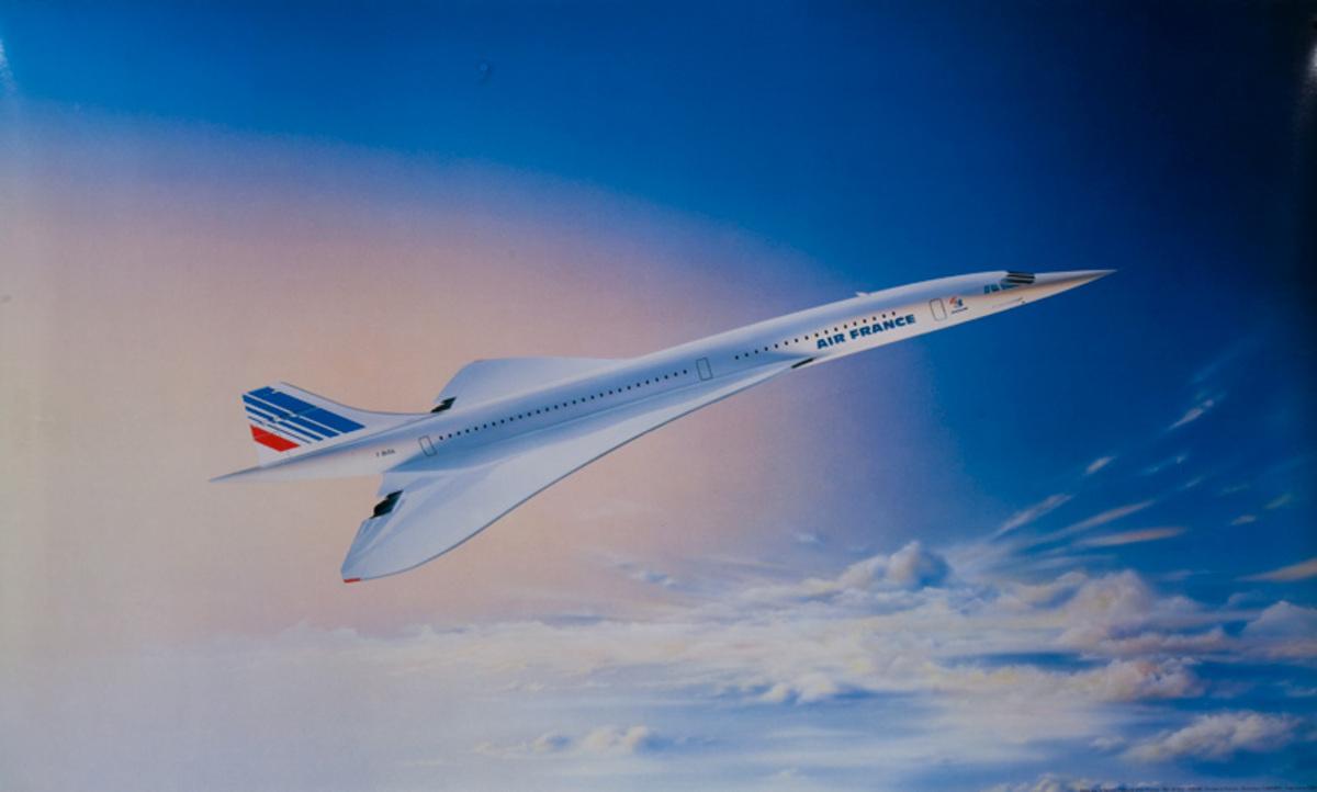 Original Air France Concorde Poster horizontal