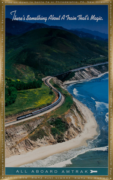 Amtrak, There's Something About A Train That's Magic All Aboard, Original Railroad Poster