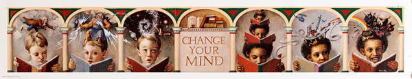 Original Children's Book Council, Book Week Poster, Change Your Mind