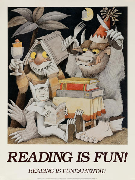 Reading is Fun Original Book Poster, Reading is Fundamental
