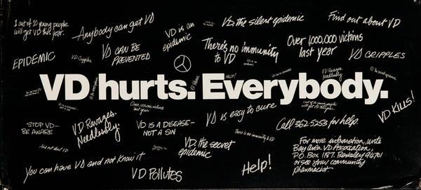 VD Hurts Everyone, Original California Venereal Disease Health Poster