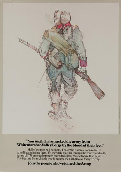 Join The People Who've Joined the Army Original US Vietnam War Era Recruiting Poster, Valley Forge
