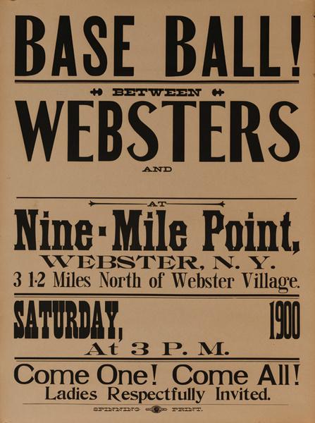 Base Ball RARE Early Baseball Advertisng Poster