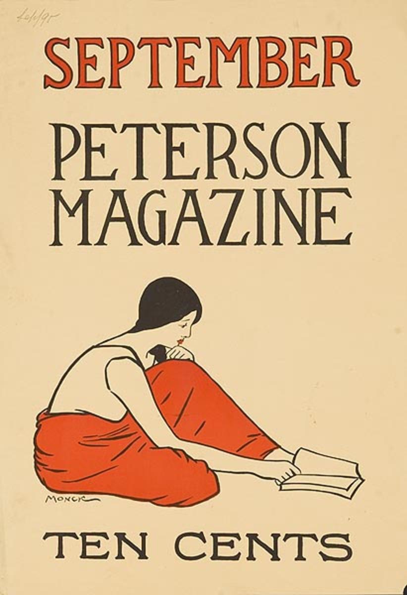 September Pererson Magazine Original American Literary Poster