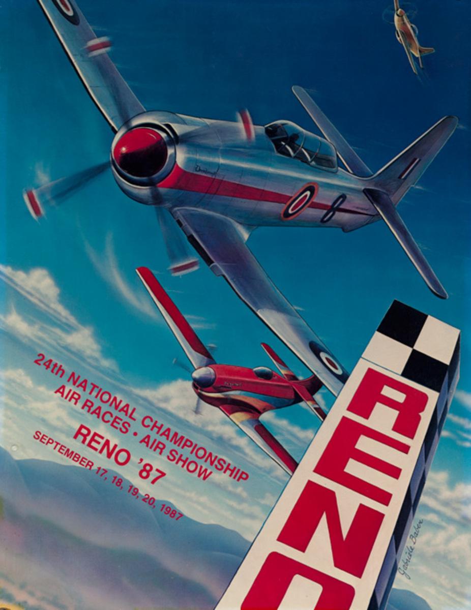 Reno Nevada Original 1987 National Air Races Poster