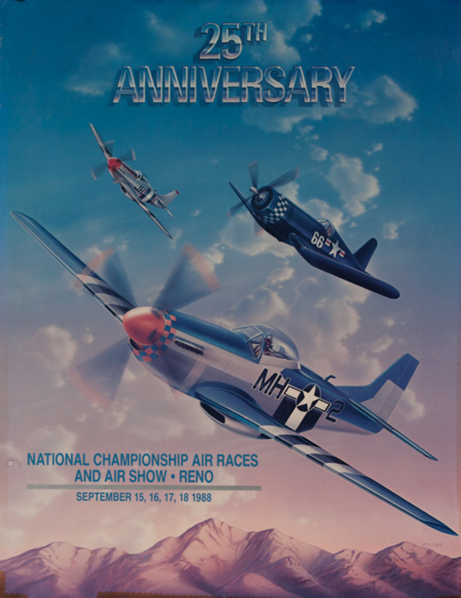 Reno Nevada Original 1988 National Air Races Poster