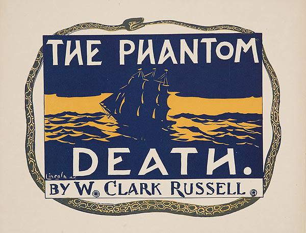 The Phantom Death by W Clark Russell Original American Book Advertising Poster