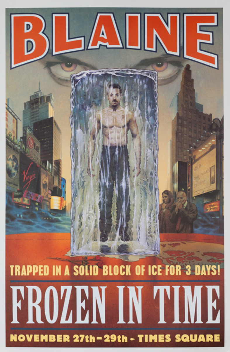 David Blaine Frozen in Time Original Magic Poster