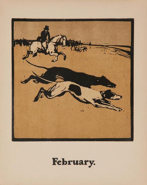 February Coursing Original Sports Print