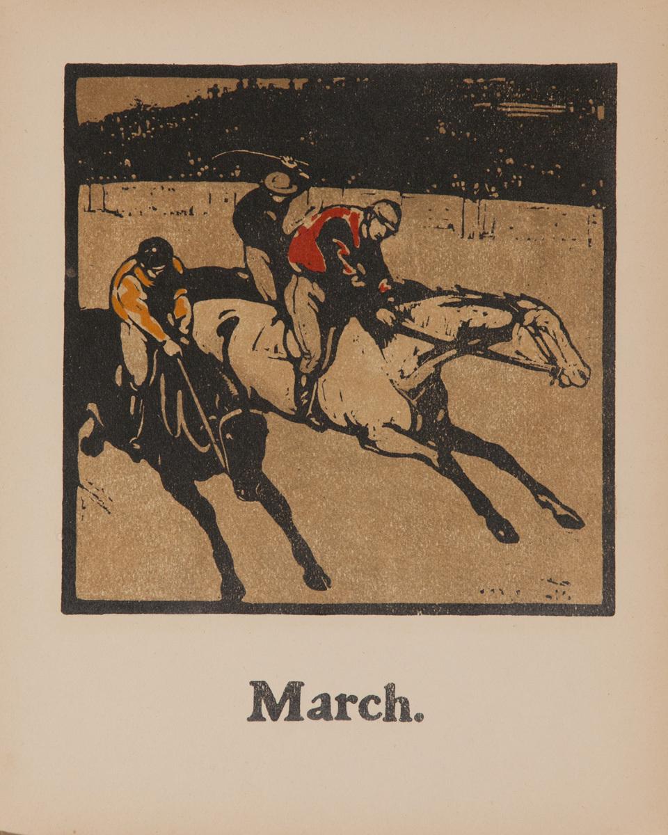 March Horse Racing - Original Sports Print