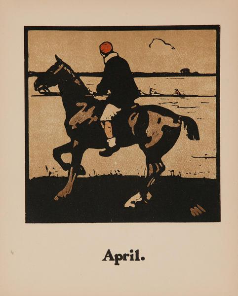 April Horse Riding -  Original Sports Print