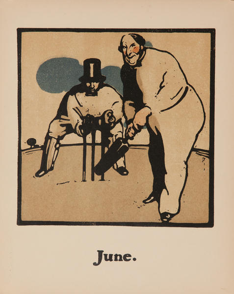 June Cricket -  Original Sports Print
