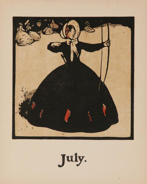 July Archery -  Original Sports Print