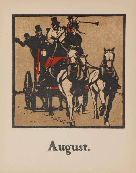 August Carriage -  Original Sports Print